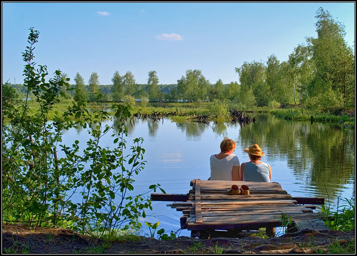 Летняя зарисовка у озера #7