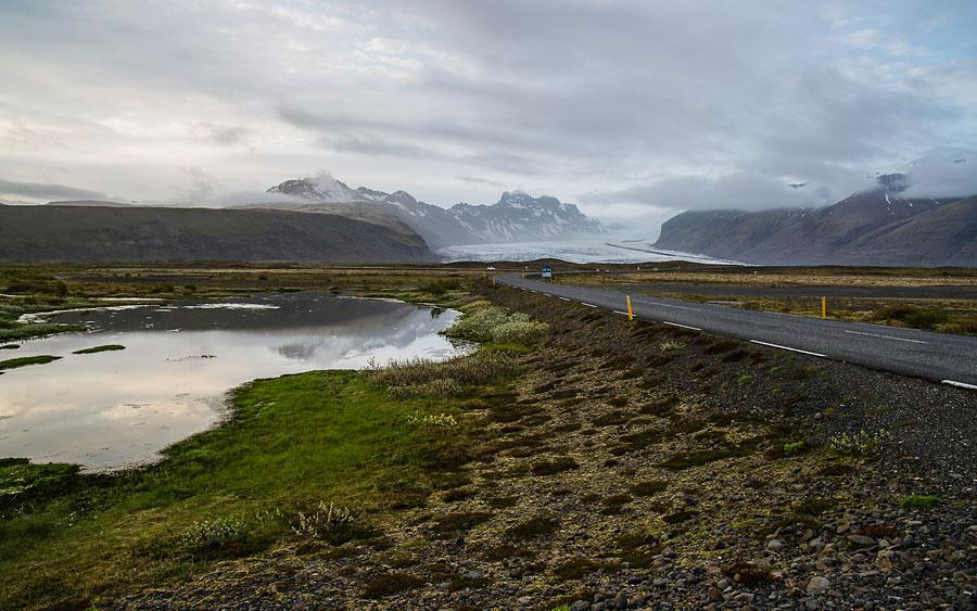 Исландия день второй. Вид с дороги на ледник 0016