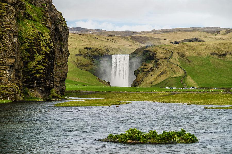 Исландия день второй. Водопад Скогафосс с дороги 1 9861