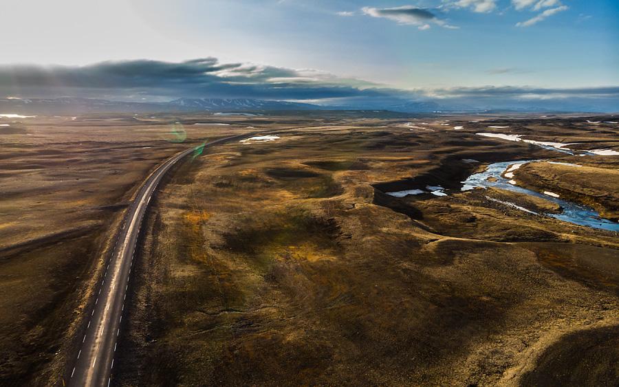Исландия день четвертый. Где-то на трассе 1 в Исландии с дрона