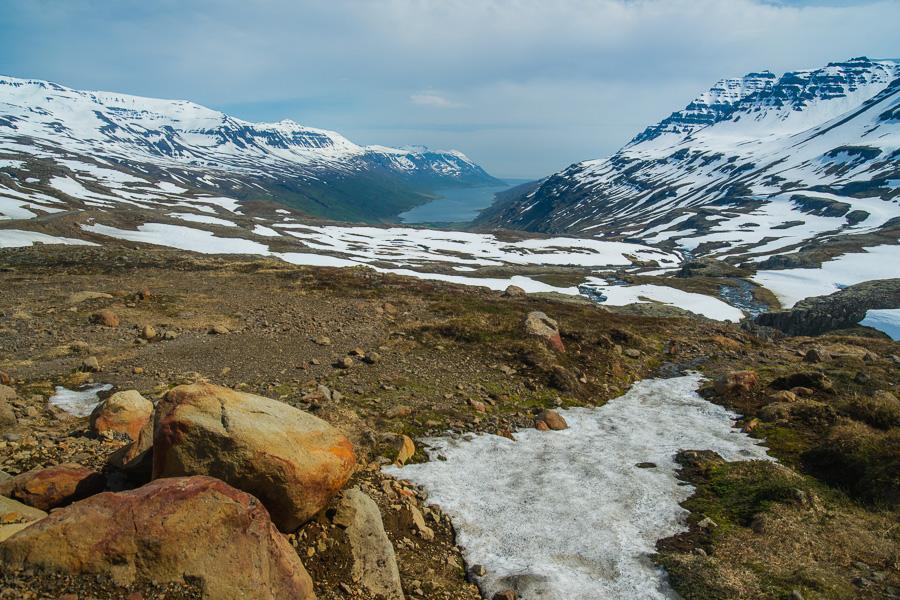 Исландия день четвертый. Вид на фьорд около Клифбреккуфоссара