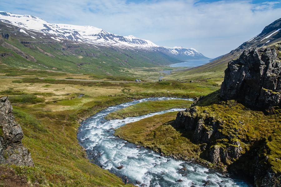 Исландия день четвертый. Вид на фьорд от Клифбреккуфоссара
