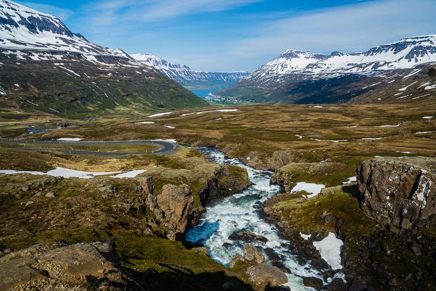 Исландия день четвертый. Вид на фьорд около Гуфуфосса