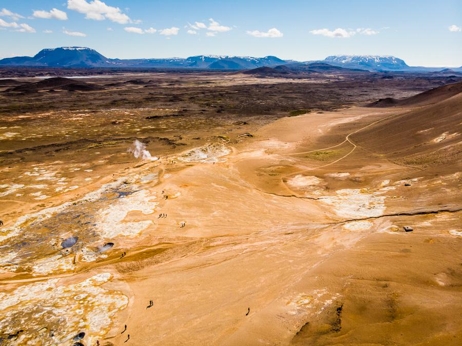 Исландия день пятый. Геотермальная зона с дрона 0099