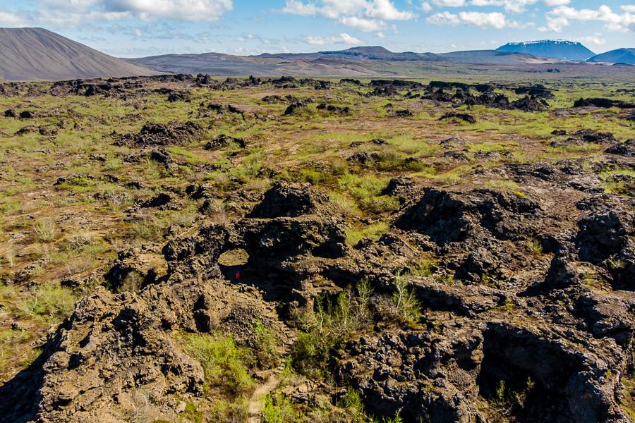 Исландия день пятый. Диммуборгир с дрона 0090