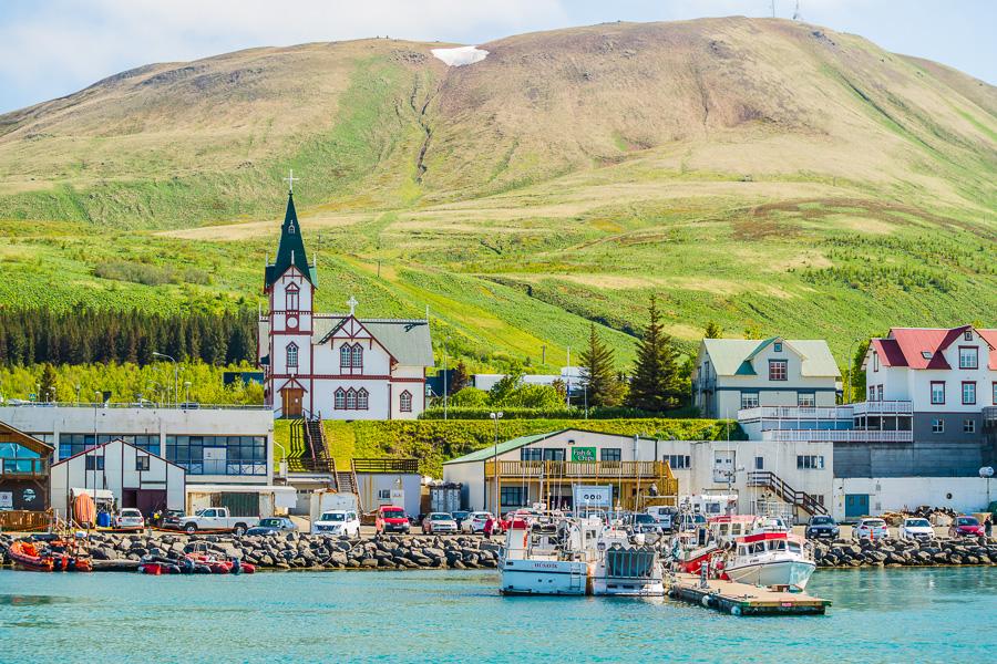 Исландия день шестой. Вид на Хусавик с воды