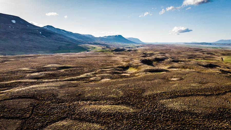 Исландия день шестой. Вид на горы от дороги с дрона
