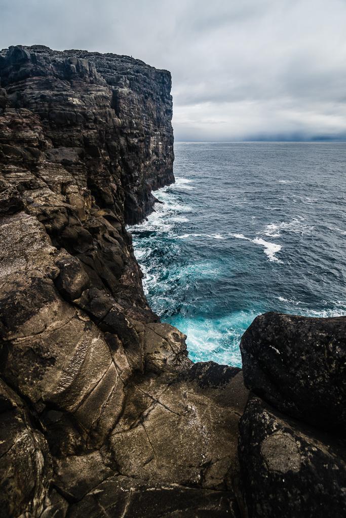 Фареры, день 1 0852|Скалы около водопада Босдалафоссур