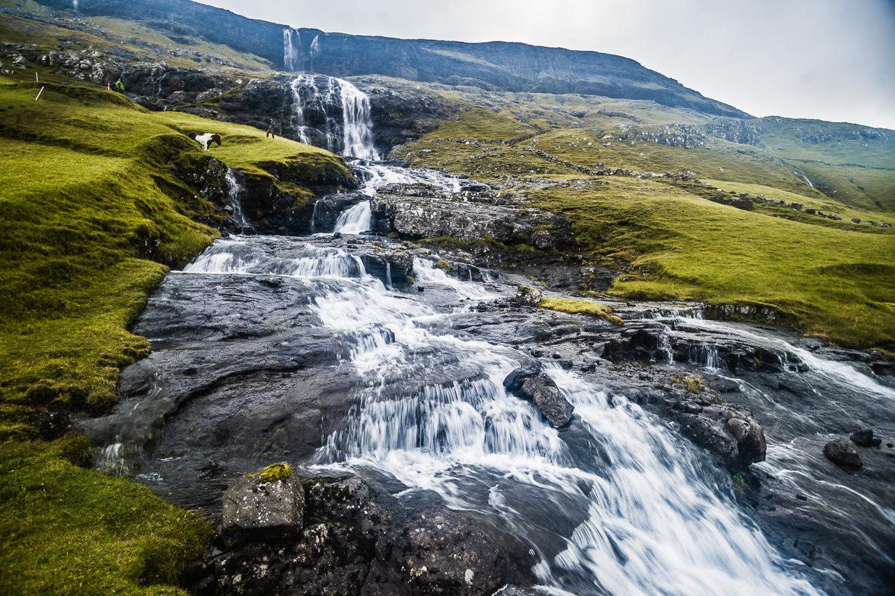 Фареры, день 3 1199 Водопад около Саксуна
