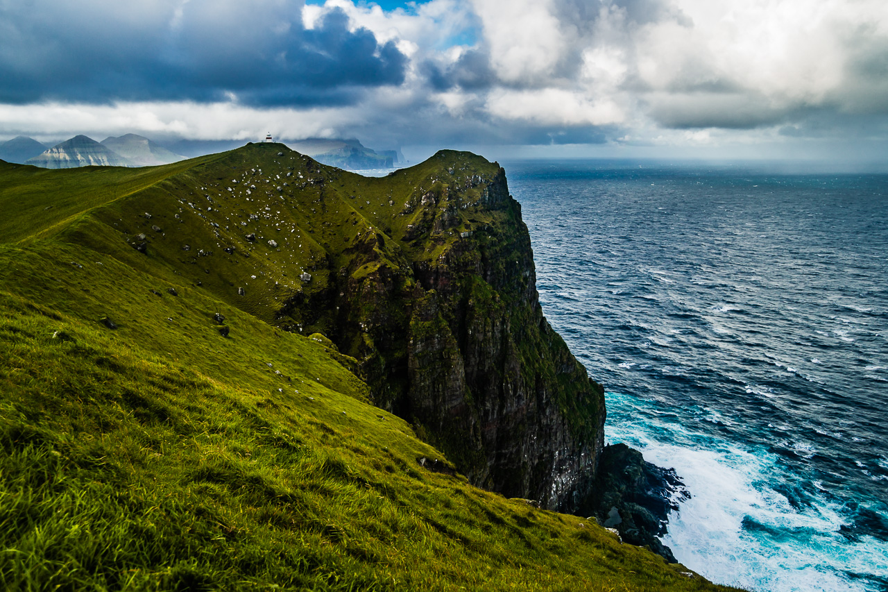 Фареры, день 5 1520|Вид на Каллур и окружающий океан