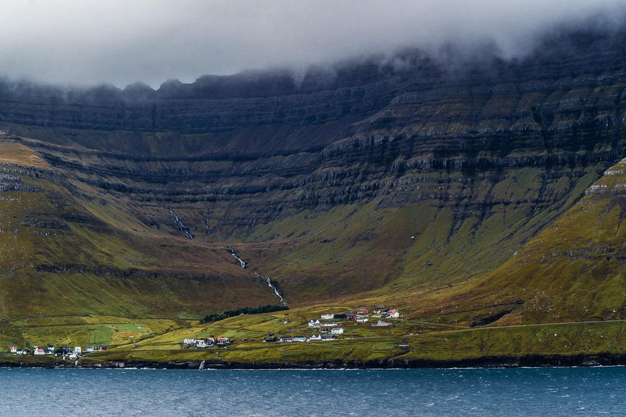 Фареры, день 5 1615|Кадр через фьорд