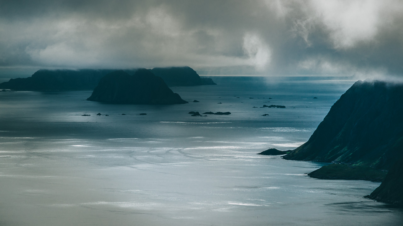 Лофотены, хайк на Тиндстинден 3507|Опять суровое Норвежское море