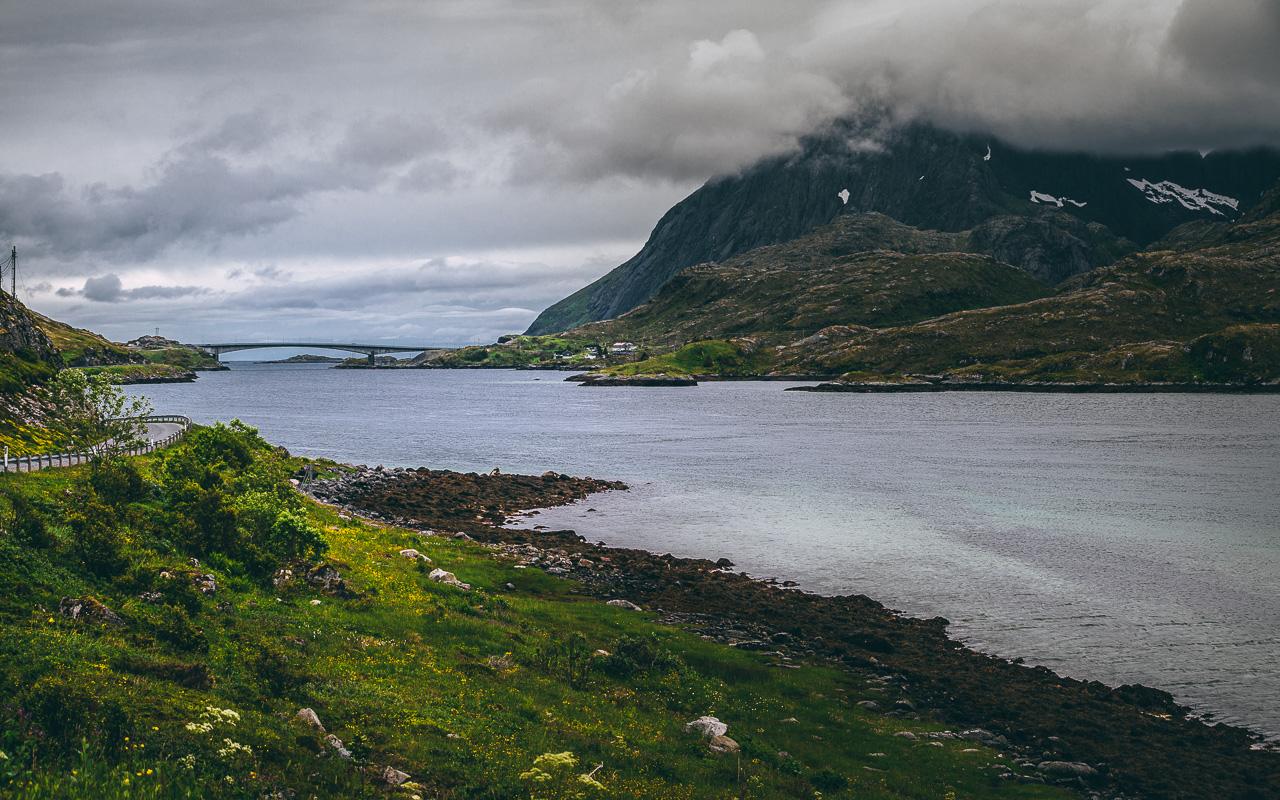 Лофотены, Нуббен и Нюсфьорд 3567|Мост через фьорд