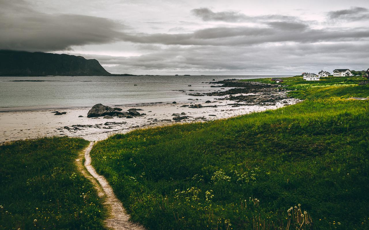 Лофотены, Нуббен и Нюсфьорд 3570|Пляж Рамберга, правая часть