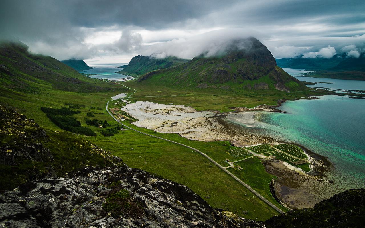 Лофотены, Нуббен и Нюсфьорд 3597|Вид с Нуббена