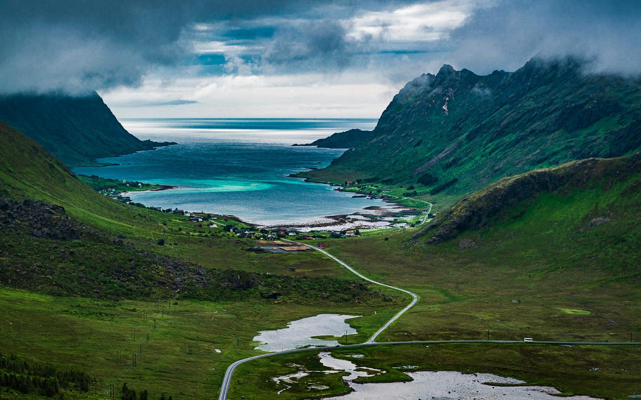 Лофотены, Нуббен и Нюсфьорд 3602|Вид с Нуббена