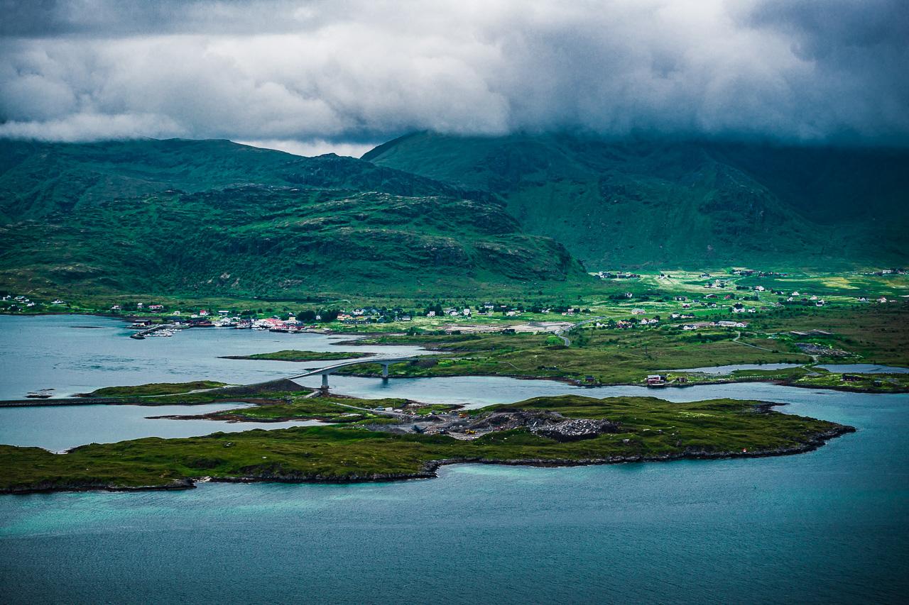 Лофотены, Нуббен и Нюсфьорд 3617|Вид с Нуббена