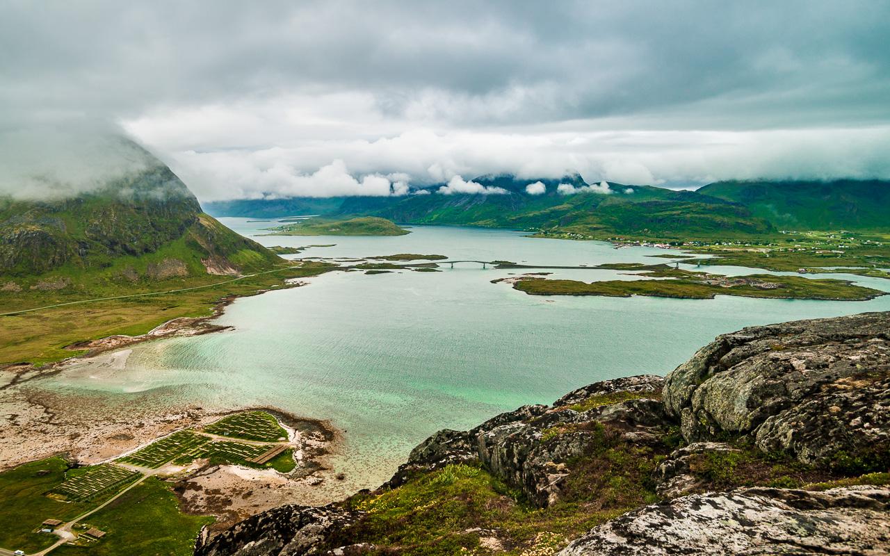 Лофотены, Нуббен и Нюсфьорд 3660|Вид с Нуббена