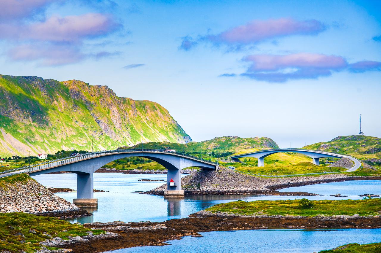 Лофотены, Офферсойкаммен и пляжи 3749|Мосты около Рамберга