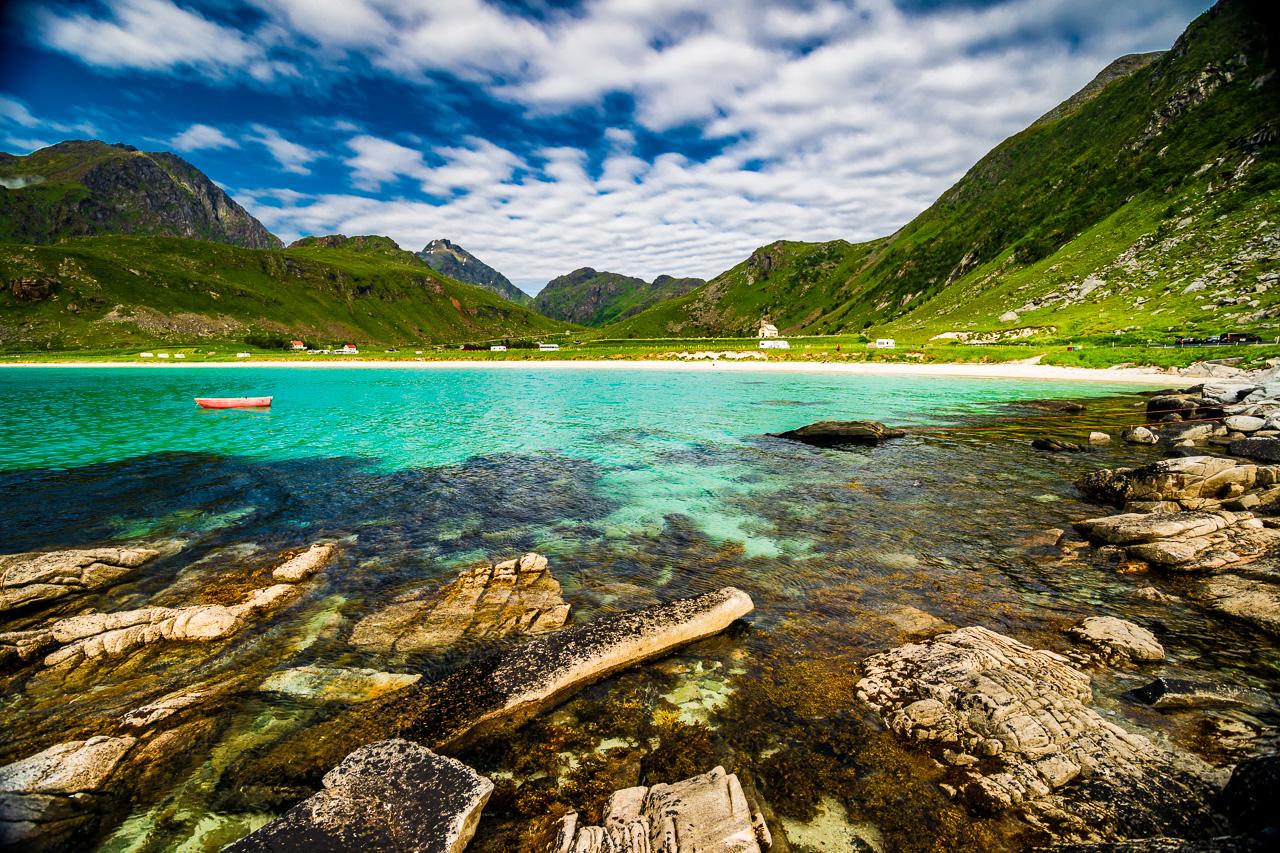 Лофотены, Офферсойкаммен и пляжи 3909|Около пляжа Вик