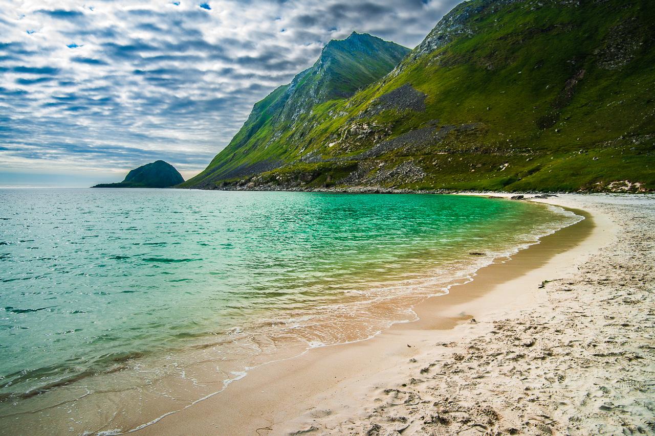 Лофотены, Офферсойкаммен и пляжи 3916|Пляж Хаукланд