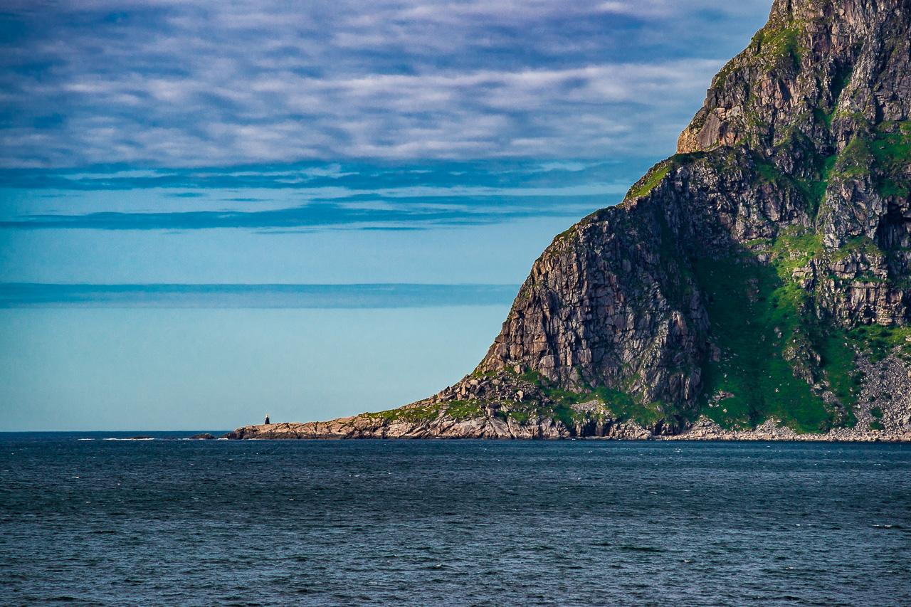 Лофотены, Офферсойкаммен и пляжи 3925|Вид с пляжа Уттаклейв