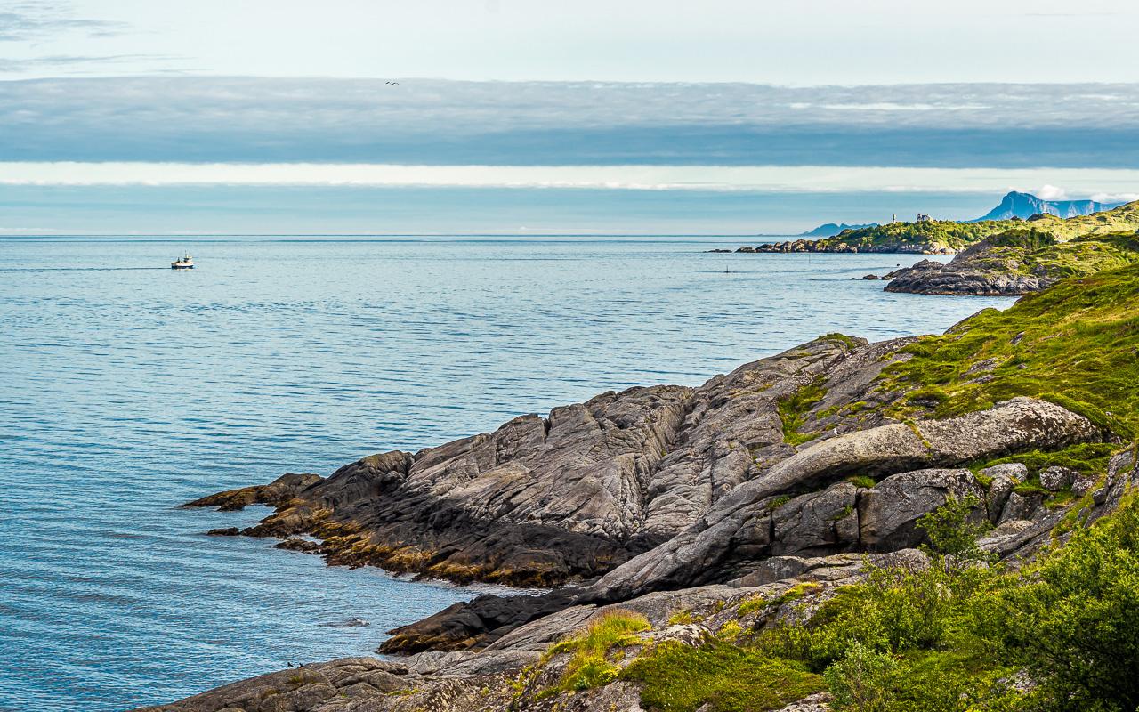 Лофотены, Офферсойкаммен и пляжи 3962|Вид около моста Дьюфьорд